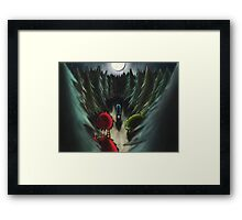 Forest in the night-time. Framed Print