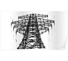 Russia Powerlines Poster