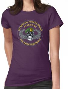 1st Special Forces Group Skull Womens Fitted T-Shirt