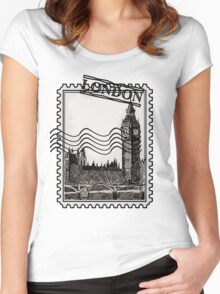 London Post Stamp Women's Fitted Scoop T-Shirt