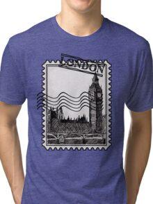 London Post Stamp Tri-blend T-Shirt