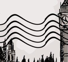 London Post Stamp Sticker