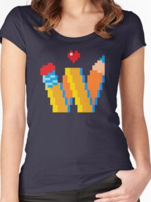 DREW WISE LOGO Women's Fitted Scoop T-Shirt