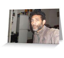 Self-portrait/(1 of 2) -(080413)- Digital photo/Fujifilm AX350 Greeting Card