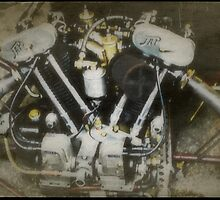 Vintage JAP Motorcycle Engine by John Colley