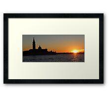 Sunset in Venice Framed Print