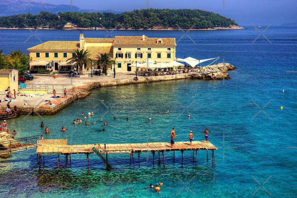 Swimming in Faliraki Bay by Tom Gomez
