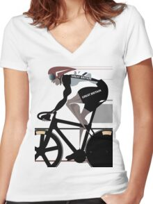 VELODROME Women's Fitted V-Neck T-Shirt