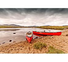 Red Canoes Photographic Print