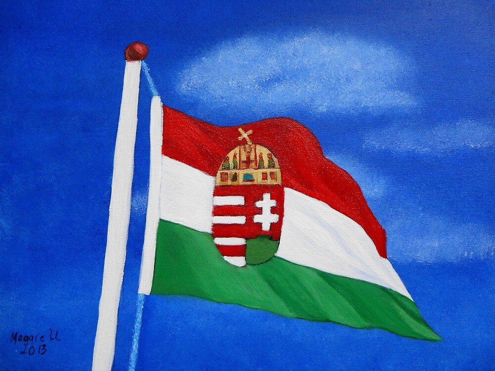 Hungarian flag  by maggie326