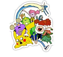 adventure time pokemon and gang by abata