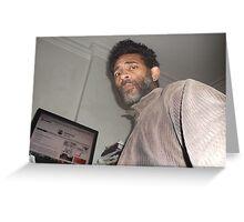 Self-portrait/(2 of 2) -(080413)- Digital photo/Fujifilm AX350 Greeting Card