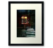Looking for love in all the empty spaces Framed Print