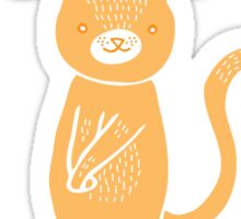 Don't be a brat, be a cat Sticker