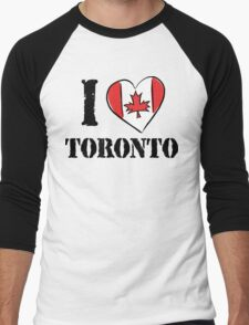 I Love Toronto Canada Men's Baseball ¾ T-Shirt