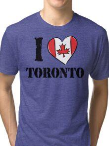 I Love Toronto Canada Tri-blend T-Shirt