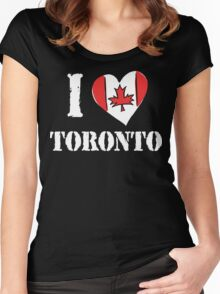 I Love Toronto Canada Women's Fitted Scoop T-Shirt