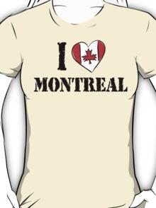 I Love Montreal Canada T-Shirt