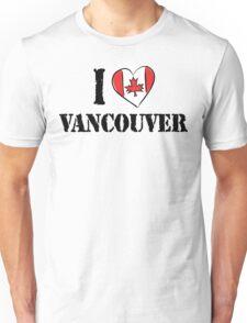 I Love Vancouver Canada Unisex T-Shirt