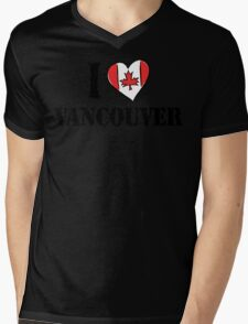 I Love Vancouver Canada Mens V-Neck T-Shirt