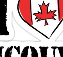 I Love Vancouver Canada Sticker