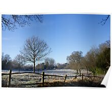 Country Scene in Winter Poster
