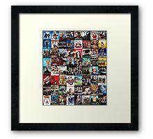 Tv series-Patchwork Framed Print