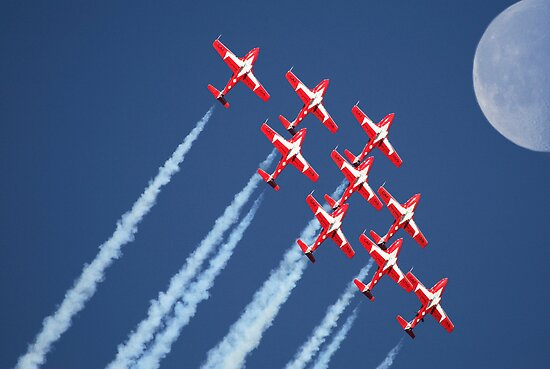 Snowbirds Aerobatics Team in flight by pictureguy