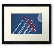 Snowbirds Aerobatics Team in flight Framed Print