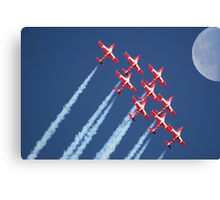 Snowbirds Aerobatics Team in flight Canvas Print