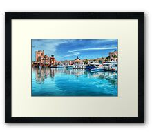 Marina and Atlantis Towers - Paradise Island, The Bahamas Framed Print