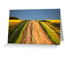 Beautiful colors along a Saskatchewan country road Greeting Card