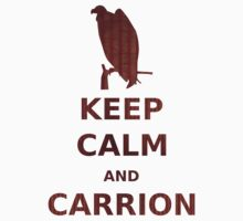 keep calm and carrion buzzard grunge red stripe by olivehue