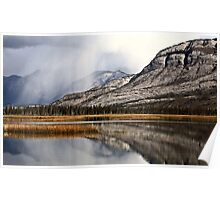 Snow Clouds in the Rocky Mountains of Alberta Poster