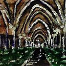Arches glore,  watercolor by Anna  Lewis