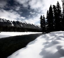 Open water in winter by pictureguy
