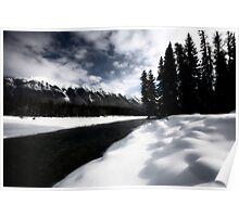 Open water in winter Poster