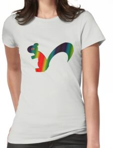 Psychadelic Rasta Squirrel Womens Fitted T-Shirt