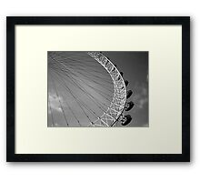 London Eye Ferris Wheel Framed Print
