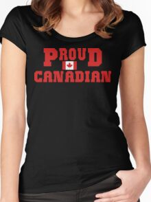 Proud Canadian Women's Fitted Scoop T-Shirt