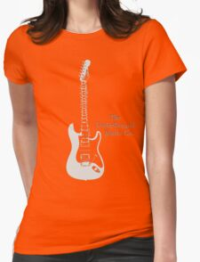 Guitar Spine Womens Fitted T-Shirt
