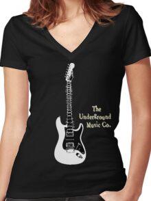 Guitar Spine Women's Fitted V-Neck T-Shirt