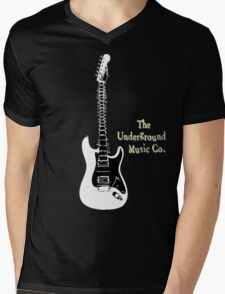 Guitar Spine Mens V-Neck T-Shirt