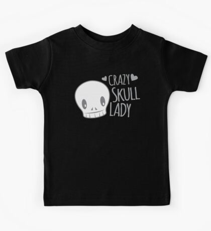 Crazy Skull Lady Kids Tee