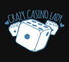 Crazy Casino Lady with three dice One Piece - Long Sleeve