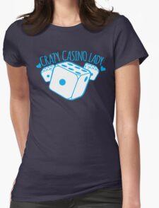 Crazy Casino Lady with three dice T-Shirt
