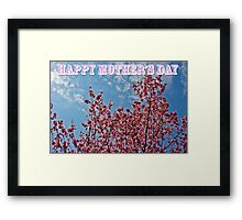 Mother's Day and Cherry Blossoms Framed Print
