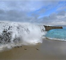 Stormwall. Sennen Cove, Lands End by Mark Haynes Photography