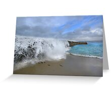 Stormwall. Sennen Cove, Lands End Greeting Card