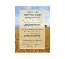 Harvest Time Scene and Poem Art Print